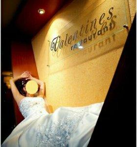 Свадебное платье To be Bride с розовой вставкой