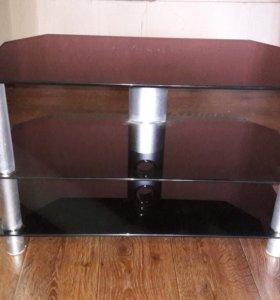 Тумба под телевизор(стекло чёрного цвета)