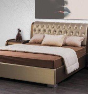 Кровать новая с ЭКО-кожей класса ЛЮКС !!!