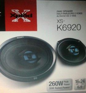 Автоакустика sony XS-K6920