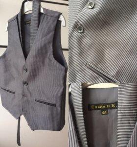 Жилет и галстук школьная форма на 134