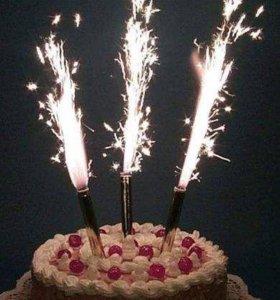 Фейерверк в торт