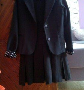 Сарафан +пиджак для школы