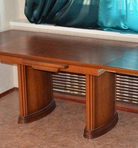 Раздвижной стол из натурального шпона (Дуб)