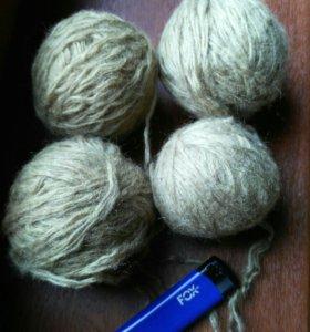 Пряжа нитки для вязания 4 клубка