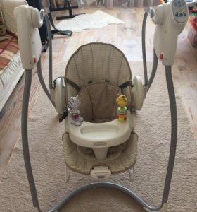 Кресло-качели Graco модель Swing&Bounce