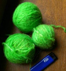 Пряжа нитки для вязания 3 клубка