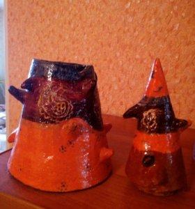 Шкатулка керамика ручная работа