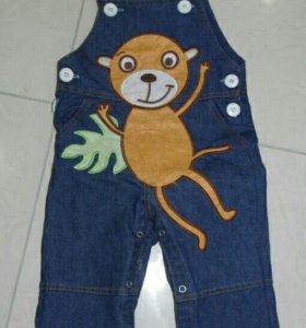 Кобинезон джинсовый, джинсы
