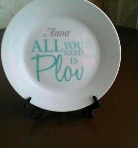 """Подарочная именная тарелка """"Анна"""""""