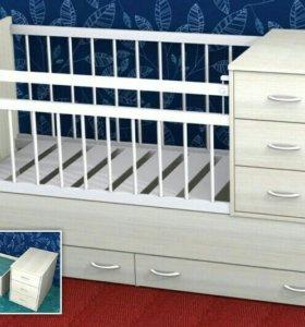 """Продам детскую кроватку """"маруся"""" + матрас"""