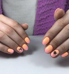 Маникюр/педикюр, гель-лак, наращивание ногтей