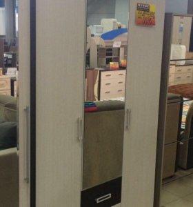 Вербена шкаф распашной с ящиками и зеркалом