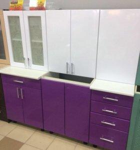 Кухня ЭКО 1,6 (белый/Виолетта )