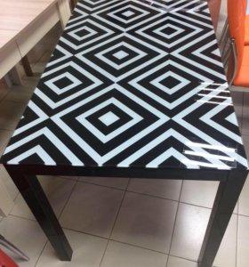 DT 318 стол обеденный (чёрный )