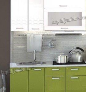 Кухня Глория 1,2 (капля зелёный )