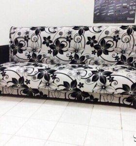 000156 новый диван книжка мешковина от фабрики