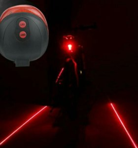 Велофонарь задний с лазерными габаритами