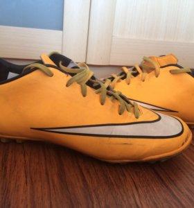 Бутсы Nike Mercurial (жёлтые)