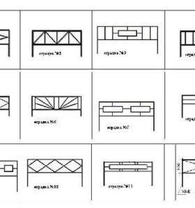Оградки любых видов и форм.