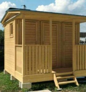Душевая кабина + туалет для дачи