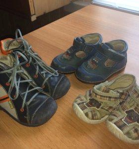 Первая обувь для мальчика