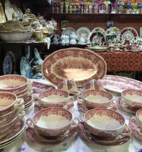 Wedgwood набор (бульонницы и тарелки) 12 предметов