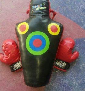 Груша и перчатки боксерские