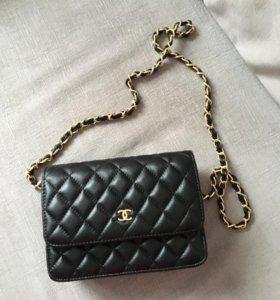 Кожаный клатч Chanel WOC