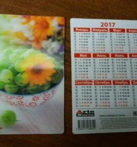 Объёмные (3д) календарики с цветами