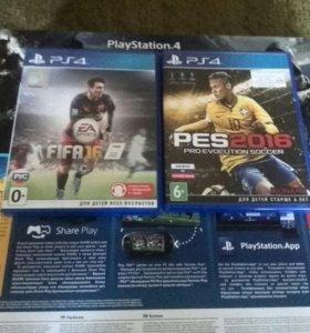 Игры PS4 FIFA16,PES2016