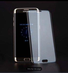 Защитная плёнка на Samsung Galaxy S6 edge