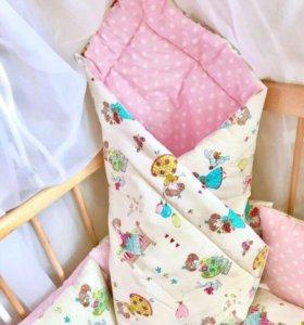 Одеяло-конверт на заказ,ткань на выбор.