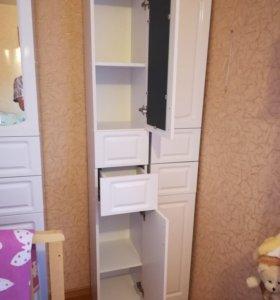 2 шкафа пенала для ванной