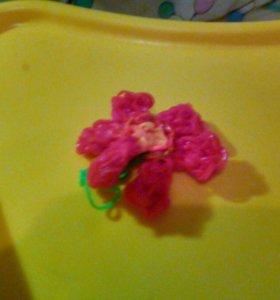 Цветок из резинок