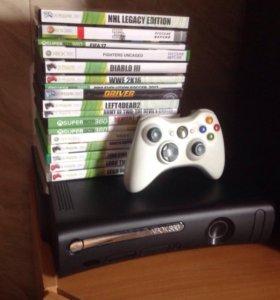 Xbox 360 прошитый + Kinect + Игры + джойстик