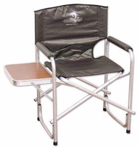 Кресло походное кедр (алюминь ) со столиком