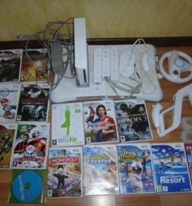 Игровая приставка Nintendo Wii + 15CD