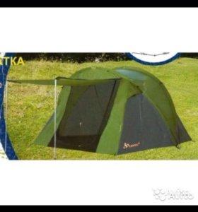 Новая трехместная туристическая палатка