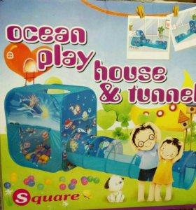 "Игровой домик "" Ocean play house and tunnel."
