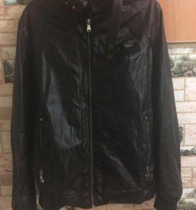 Куртка кожаная коричневая мужская