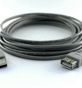 Удлинитель кабель USB 2.0 AMAF 4,5 м Gembird
