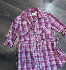 Рубашка в клетку  44-46