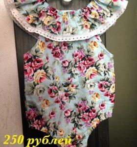 Новое платье боди полукомбинезон для девочки