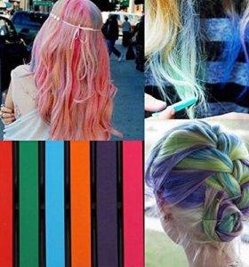 Мелки для волос Hair Chalkin набор 6 шт. Цветные!