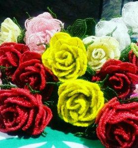 Цветы и деревья из бисера. Розы