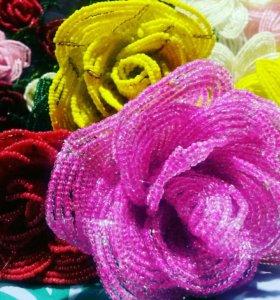 Цветы и деревья из бисера. Ручная работа. Розы.