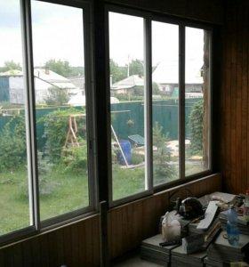 Алюминевые окна на виранду или бесетку