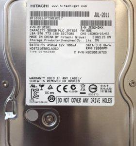 Жесткий диск Hitachi для ПК 500Gb