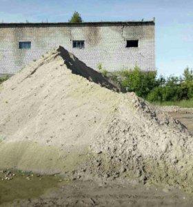 Песок, щебень, бетонные блоки
